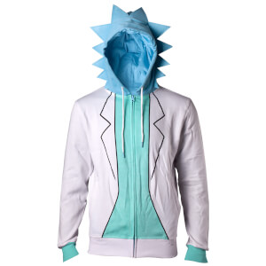 Rick and Morty Men's Rick Novelty Hoody - White