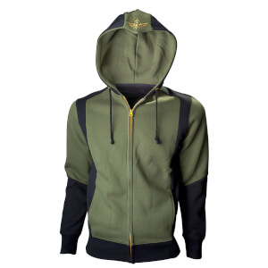 Nintendo The Legend of Zelda Men's Hyrule Crest Zip Through Hoody - Green