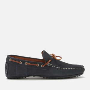 Barbour Men's Eldon Suede Driver Shoes - Dark Blue