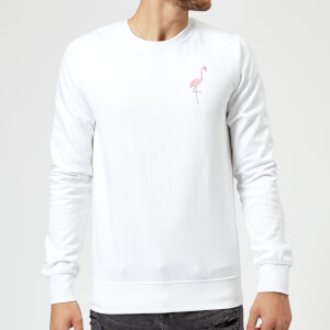 Flamingo Skeleton Sweatshirt - White