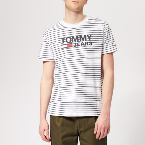 Tommy Jeans Men's Signature Stripe T-Shirt - Black Iris/Classic White