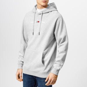 Tommy Jeans Men's Small Logo Hoody - Light Grey Heather