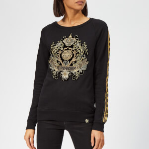 Superdry Women's Rock Royalty Crew Neck Sweatshirt - Black