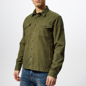 Barbour International Men's Skipton Overshirt - Sports Olive