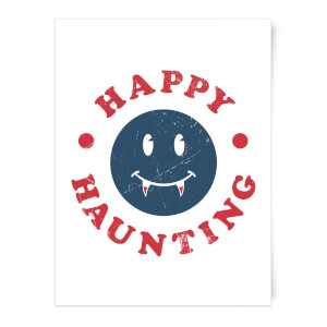 Happy Haunting Fang Art Print