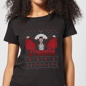 T-Shirt de Noël Femme Universal Monsters Dracula - Noir