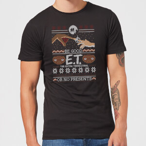 E.T. the Extra-Terrestrial Be Good Or No Presents Men's T-Shirt - Black