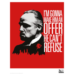 The Godfather Limited Edition Art Print - Red