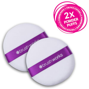 brushworks Powder Puff Duo -puuterivipat