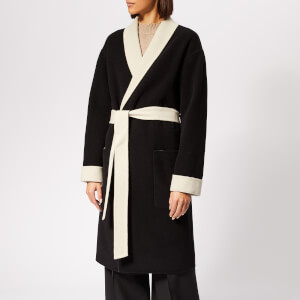 Alexander Wang Women's Doubleface Robe with Logo - Black