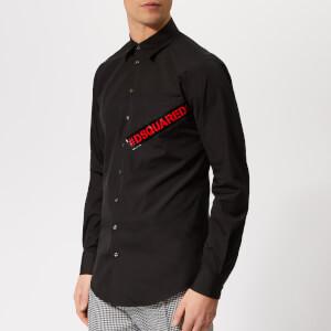 Dsquared2 Men's Tape Logo Carpenter Shirt - Black
