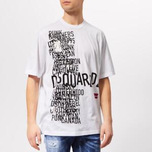 Dsquared2 Men's Loose Fit Punk T-Shirt - White