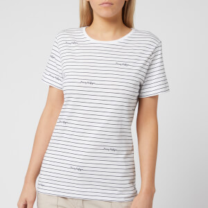 Tommy Hilfiger Women's Elora Crew Neck T-Shirt - Stripe/Classic White