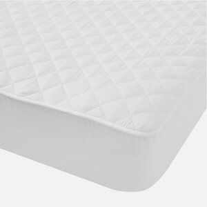 in homeware Cotton Mattress Protector - White