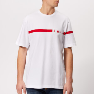 Jack Wills Men's Budden Stripe Logo T-Shirt - White
