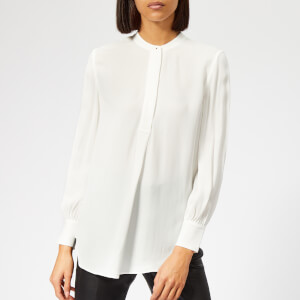 Whistles Women's Stud Pleat Blouse - Ivory