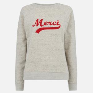 Whistles Women's Merci Embroidered Sweatshirt - Grey Marl