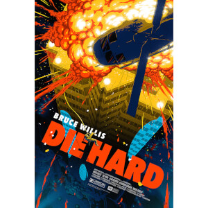 Die Hard Fine Art Offset 24 x 36 Inches Print by Florey - Zavvi UK Exclusive