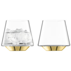 LSA Space Water & Wine Glasses - Gold (Set of 2)