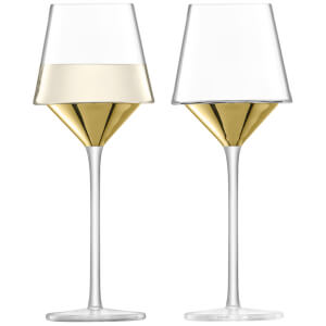 LSA Space Wine Glasses - Gold (Set of 2)