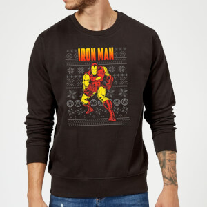 Marvel Avengers Classic Iron Man Christmas Sweatshirt - Black