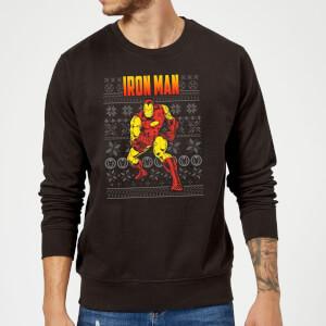 Pull de Noël Homme Marvel Avengers Classic Iron Man - Noir