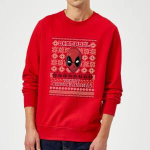 Marvel Deadpool Christmas Sweatshirt - Red
