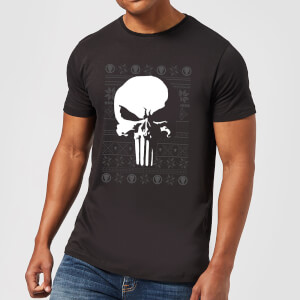 Marvel Punisher kerst T-shirt - Zwart