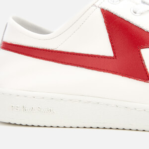 PS Paul Smith Men's Ziggy Leather Lightning Trainers - White/Red: Image 4