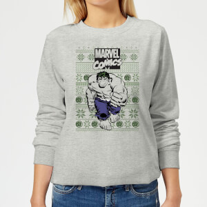 Marvel Avengers Hulk Women's Christmas Sweatshirt - Grey