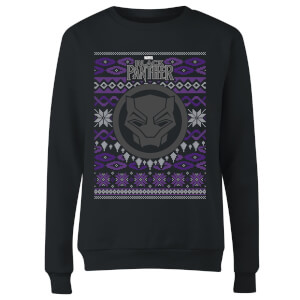 Marvel Avengers Black Panther Women's Christmas Sweatshirt - Black