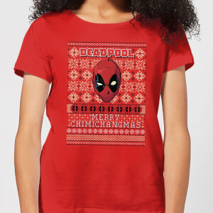 Marvel Deadpool Damen Christmas T-Shirt - Rot