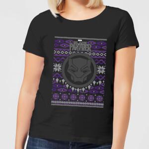 Marvel Avengers Black Panther Women's Christmas T-Shirt - Black
