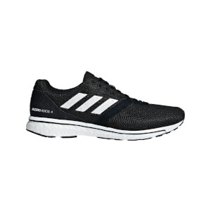 adidas Men's Adizero Adios 4 Running Shoes - Black/White