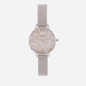 Olivia Burton Women's Celestial Glitter Mesh Watch - Silver