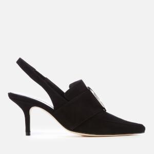 Dorateymur Women's Eagle Suede Sling Back Court Shoes - Black