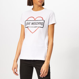 Love Moschino Women's Street Logo T-Shirt - Optical White