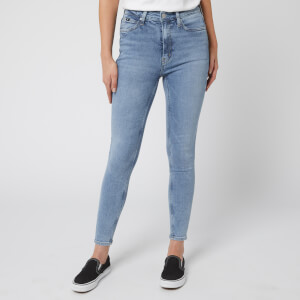 Calvin Klein Jeans Women's High Rise Skinny Ankle Jeans - Iconic Light Stone