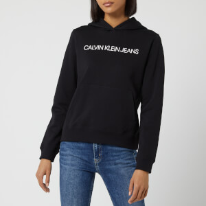 Calvin Klein Jeans Women's Institutional Hoody - CK Black