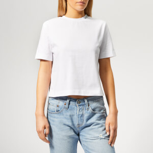Calvin Klein Jeans Women's Cropped Skater T-Shirt - Bright White