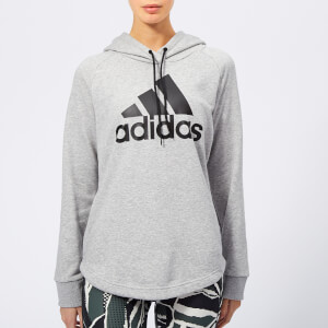 adidas Women's Must Haves Badge of Sport Hoodie - Grey Heather