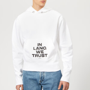 Helmut Lang Men's Standard Hoody with Print - Chalk White