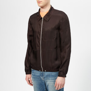 Helmut Lang Men's Zip Shirt Jacket - Chocolate