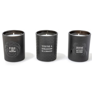 Game of Thrones Glass Candles (Set of 3)