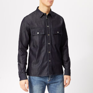 PS Paul Smith Men's Long Sleeve Casual Shirt - Blue