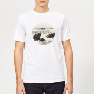 PS Paul Smith Men's Regular Fit Surf T-Shirt - White