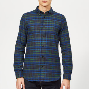 PS Paul Smith Men's Long Sleeve Casual Fit Shirt - Dark Navy