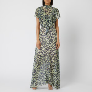 Preen By Thornton Bregazzi Women's Emily Georgette Dress - Navy Peony