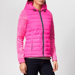 Superdry Women's Storm Hybrid Zip Hood Jacket - Vibe Pink/Vibe Pink Grit