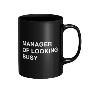 Manager Of Looking Bust Mug - Black